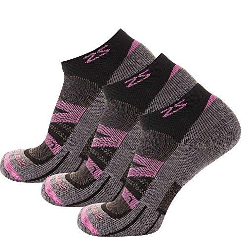 Zensah Wool Running Socks - Soft Cushioned Merino Wool, Moisture Wicking, Anti-Blister - Athletic Socks, Trail Socks -