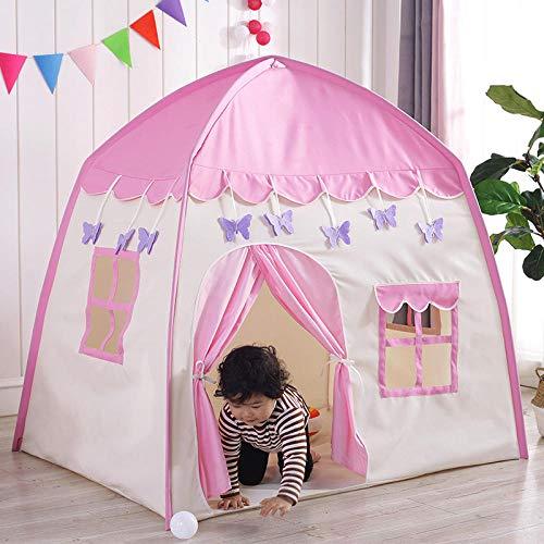 NIGHT WALL Kinder faltbares Spielhaus, Indoor-Kinder-Mückenfalle, Baby-Spielzeug-Spielhaus, Pink