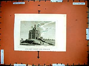 Gravure de Lynn Norfolk Angleterre du Support de 1783 Vieilles Dames
