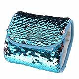 Yogogo Mode SirèNe Bracelet Bracelet SirèNe Pour Anniversaire Et Cadeau De NoëL Femme SirèNe Sequins Bracelet (Bleu)