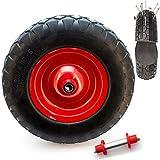 PU Schubkarren Rad 4.80/4 4.00-8 Vollgummi Ersatzrad für Schubkarren mit Achse - pannensicherer Reifen (mit Achse)