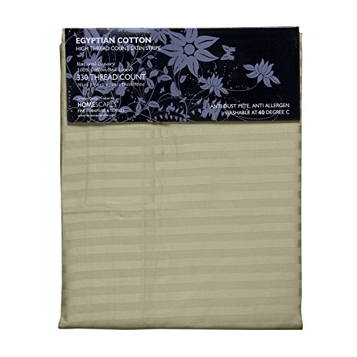 Homescapes 2 teilige Damast Bettwäsche 155×220 cm lindgrün 100% ägyptische Baumwolle Fadendichte 330