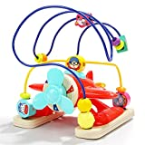 LXWM Multifunzionale Tondo Aereo Aeroplano Tallone per Bambini Giocattolo educativo per i Bambini Regali di Giocattoli di Illuminazione in Legno