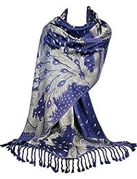 GFM Écharpe de style pashmina, motif plumes de pao (PCKPASH) 40a8698b04d