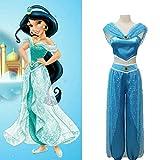 Binwwe Bauchtänzerin Prinzessin Aladdin Jasmin Cosplay Frauen Mädchen Kostüm Set