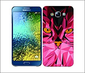 Galaxy Printed 2098 Geometric Animals Cat Hard Cover for Samsung A7
