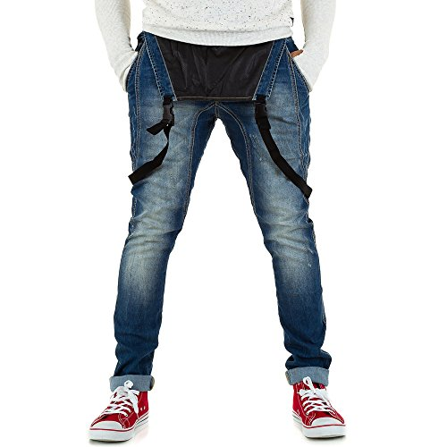 Sixth June Baggy Latz Jeans Für Herren bei Ital-Design Blau