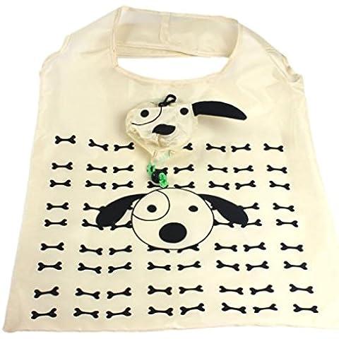Toraway La manera linda del perro de dibujos animados portátil plegable más gruesas bolsas de la compra