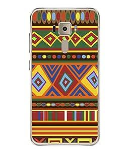 PrintVisa Designer Back Case Cover for Asus Zenfone 3 ZE552KL (5 Inches) (Designer Rangoli Decorate Art Printed )