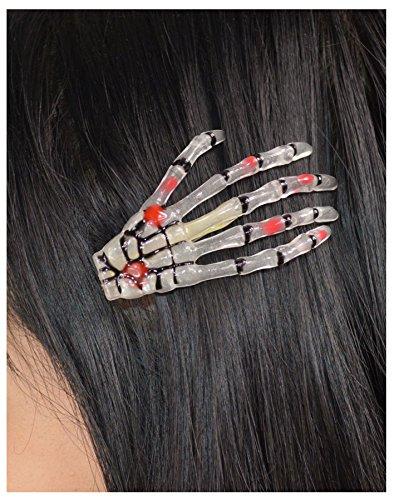 Skelett Hand Haar Clip-Leuchten im Dunkeln - eine Größe - verboten