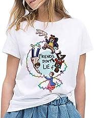 Camiseta Stranger Things, Camiseta Stranger Things Mujer Niña Impresión T-Shirt Abecedario Camiseta Stranger T