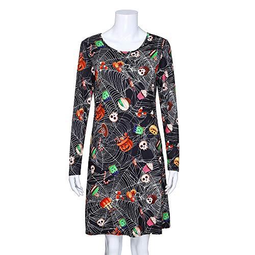 Plus Größe Frauen Langarm Schädel Fledermaus Halloween Abend Prom Kostüm Schaukel Kleid Cosplay Karneval Party Weiblichen Anzug
