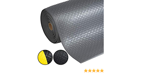 Arbeitsplatzmatte 60x150 cm Anti-Erm/üdungsmatte Dyna-Protect Diamond Schwarz