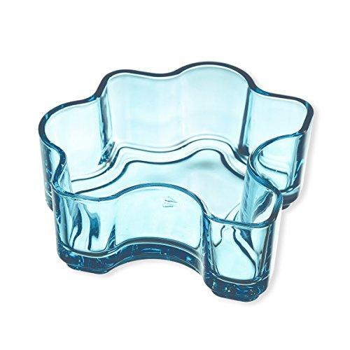 Schale aus Glas blau 30cl–Lot de 2–Puzzle–Bruno Evrard