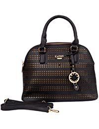 Cathy London Women's Handbag, Material- Synthetic Leather, Colour- Black - B077LSGS31