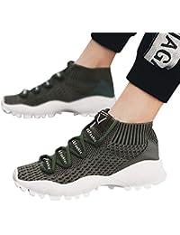 MEIbax Uomo Scarpe Running Sneakers Mesh Fly Traspirante Comodo Scarpe  Sportive Scarpe Casual Scarpe da Escursionismo 242a7043379