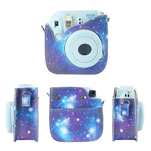 Fujifilm Instax Mini 9 Tasche, Leebotree Schutztasche aus weichem Kunstleder mit Schulterriemen und Tasche für Fujifilm Instax Mini 8 8+ / Mini 9 Sofortbildkamera