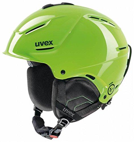 Uvex, Casco da sci P1US, Giallo (Lightgreen), 55-59 cm