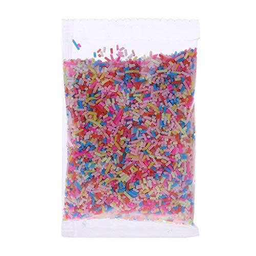 ZJL220 Plastic Rainbow Sprinkles Fluffy Floam Slime Clay Mud DIY Slime Accesorios 26g 1