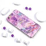 E-Mandala Funda iPhone 6S Plus 6 Plus Púrpura Carcasa Canica Dibujos Case Cover Silicona Gel TPU Goma Bumper Ultra Fina Slim