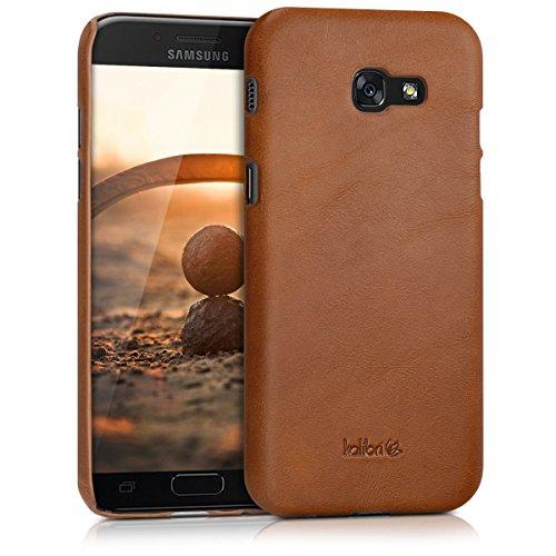 kalibri-Echtleder-Backcover-Hlle-fr-Samsung-Galaxy-A5-2017-Leder-Case-Cover-Schutzhlle-in-Cognac