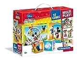 Clementoni 41502.1 - Würfelpuzzle Disney Micky Maus - Clubhaus, 12 Teile