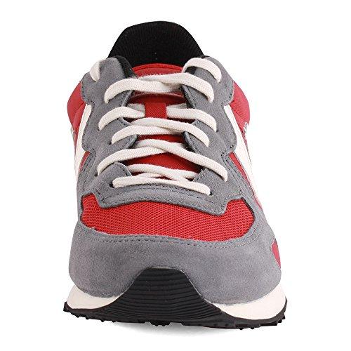Converse - Converse Auckland racer ox Herren Sneaker Grau Rot Leder Rot/Grau