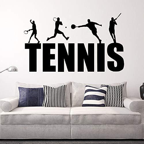 jiuyaomai Tennis Sport Art Vinyl Wandaufkleber Für Fans Home Entfernen Schlafzimmer Wohnzimmer Aufkleber Raumdekoration Poster57x96 cm