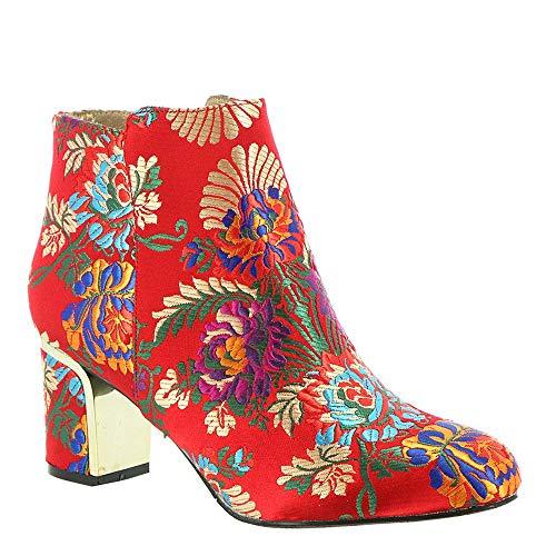 J.Renee Frauen Flache Sandalen Rot Groesse 12 US /43 EU J Renee Metallic-heels