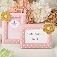 Pink and Gold photo frame / placecard frame from solefavors