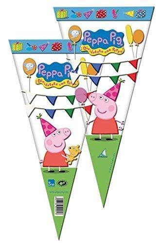 Sortiment - Peppa Pig Party Kegel-taschen x 10 ()