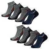 8 Paar Herren Sneakersocken Kurzsocken Sneaker Socken mit Komfortbund in 43-46