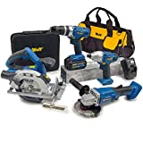Wolf Professional 20v 7pc Power Tool Kit with Combi Drill, Impact Driver, Circular