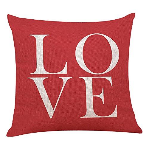 2019 nuovo cuscino decorativo casa lino alla moda rosso copriletto copertura federa geometrica nascosta chiusura a cerniera 45cm×45cm/ 18 × 18 pollici by wudube