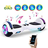 "SISGAD Hoverboard, 6.5"" Self Balance Elektro Scooter with LED Lights, 2 Wheels Hoverboard Kinder mit 2 * 300W Motor, Kostenlose Tragetasche, UL Zertifikat"