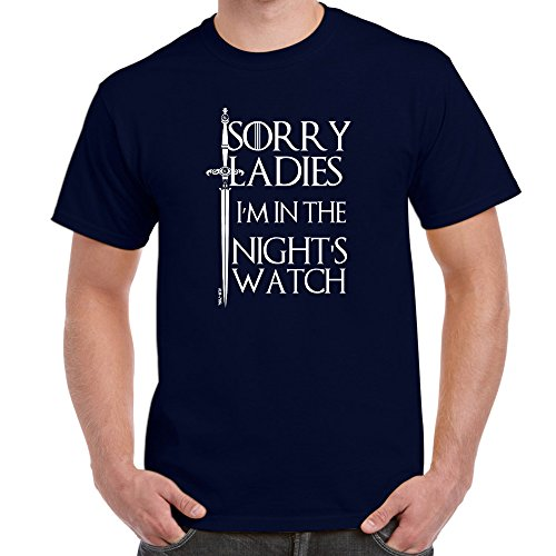 Herren Lustige Sprüche coole fun T Shirts-I'M In The Nights Watch-Game of Thrones tshirt-Marineblau-Small (Black T-shirt Tee-small Lustige)