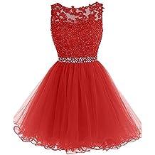 5b42d3c78689 Amazon.es: Vestidos Cortos En Rojo - JAEDEN