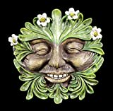 Waldgeist Wandrelief - Gänseblümchen Gesicht | Fantasy Figur Deko Baum Garten