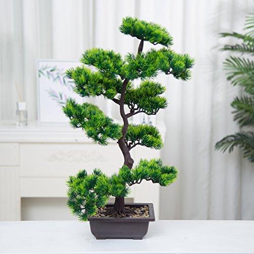 Künstliche Bonsai Baum Pflanze für Büro Zuhause Dekoration, 70cm (Grün), Green (A-40cm) (70cm-A)