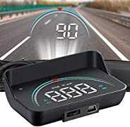 HUD Display, lesgos Vehicle Speedometer Head Up Display with Hood, Speed Warning HUD Projector for Cars and Tr