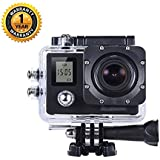 Action Camera - Ultra HD - 16MP - Dual Screen - 4K WiFi Extreme Sports Action Camera - Waterproof Diving Camera 170D Lens Action Cam 2.0'' Screen - Techlife Brand - High Quality
