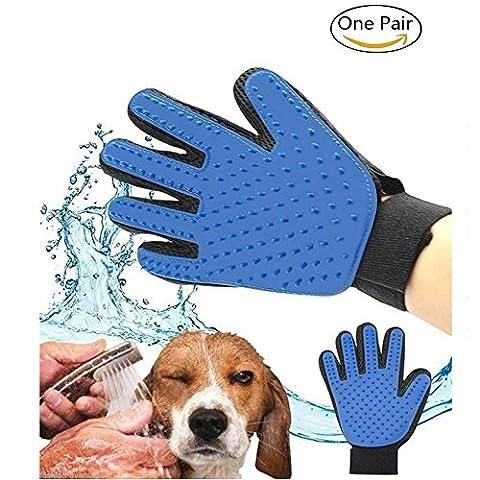 Haustier Grooming Bürsten Pet Hund Katze Reinigung Bad Pinsel Handschuh Massage Handschuhe Magic Hairs Remover Grooming und Shedding Tool