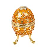 qifu-hand painted music, decorative style fabergé egg design with hinged jewelry box, Unique Gift for home decoration
