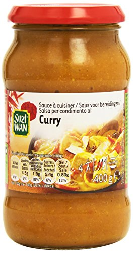 SUZIWAN Sauce à cuisiner Curry 400 g - Lot de 3