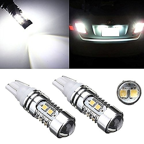 KaTur 2 Pcs T10 10 SMD 2835 Puce LED Xenon Blanc Voiture Wedge Côté Ampoule Lampe Vidéoprojecteur DC 12 V