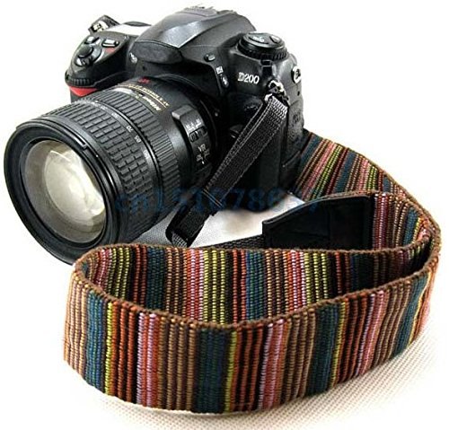 Generic Camera Neck shoulder Strap Retro Style multi color for Nikon D5000 D5100 D5200 D7000 D7100 D3000 D3100 D3200 D90 D600 D610 Canon 700D 650D 600D 550D 500D 450D 400D 350D 70D 60D 5D Mark II 5D Mark III 7D Sony A230,A290,A330,A380,A390,A450,A550,A580,A700,A850,A900,A33,A55,A57,A65,A77,A99 - Camera Strap DSLR Strap Neck Strap Shoulder Strap Canon Strap Nikon Strap Sony Strap - Camera Accessory  available at amazon for Rs.280
