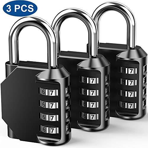 Candados de Combinación al Seguridad, 4 Dígitos - Reponible Digital con combinación de grillete...
