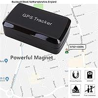 Magnético GPS Tracker, GPS/GSM/GPRS sistema de seguimiento sin cuota mensual, inalámbrico Mini portátil magnética Control de oculta para vehículo antirrobo/Teen conducción