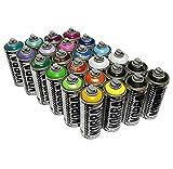 KOBRA Spray Paint–24x 400ml Aerosol Spray Paint Dosen–matt Finish, Farbe