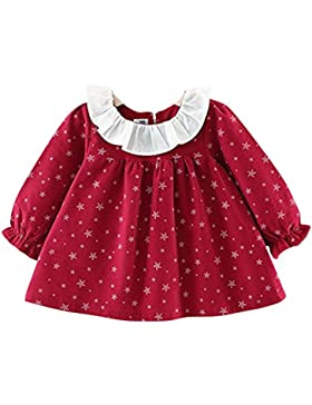 ESHOO Baby Mädchen Little Star Print Langarm Top, Herbst Sommerkleid Prinzessin Kostüm